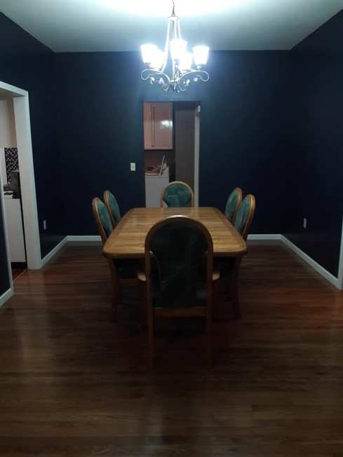 Blunt dining room after