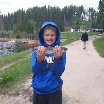 M with his fish.